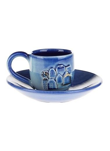 BeMade Evler Klasik Fincan İçi Lacivert Mavi